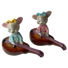 Vintage PY Japan Mice on Violins