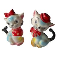Vintage Colorful Cats Salt and Pepper Shakers