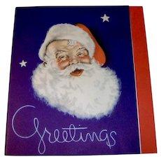 Vintage 1930s Santa Christmas Card