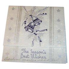 Vintage 1930s Seasons Greeting card