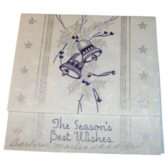 Vintage 1930s Seasons Greeting card