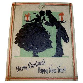 Vintage 1930 Holiday Greeting Card