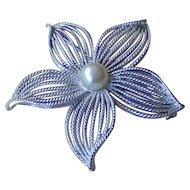 Vintage Sarah Cov Moon Flower Brooch