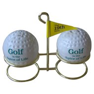Golf Ball salt and pepper shakers