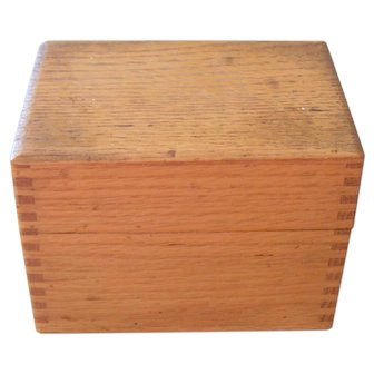 Vintage Wayne Novelty Wooden Recipe Box