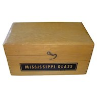 Vintage Mississippi Glass Company Glass Sample Box