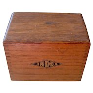 Vintage Wood Index Box