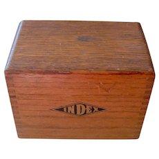 Vintage Wood Index Box