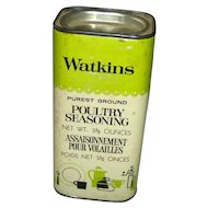 Vintage Watkins Poultry Seasoning Container