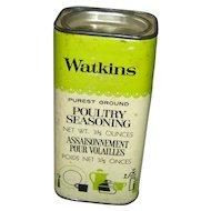 Vintage Watkins Poultry Seasoning Container