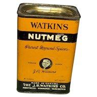 Vintage Watkins Nutmeg Tin