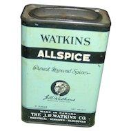 Vintage Watkins Allspice Tin