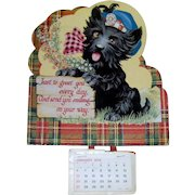 Vintage 1974 Scottie Dog Calendar