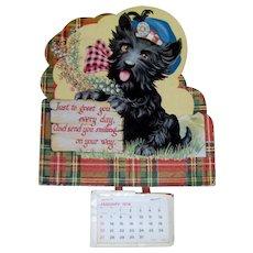 Vintage 1974 Scottie Dog Calendar