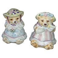 Vintage Teddy Bear Salt and Pepper Shaker Set