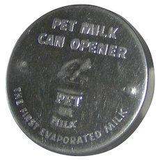 Vintage PET MILK hand can opener