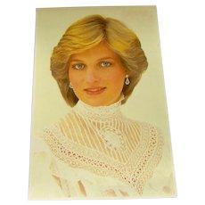 Vintage Postcard of Princess Diana
