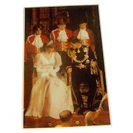Vintage postcard Princess Diana and Prince Charles