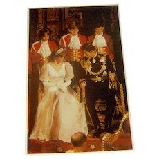 Vintage postcard Princess Diana and Prince Charles