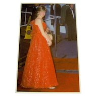 Vintage Postcard of Lady Diana Spencer