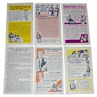 Vintage J. R. Watkins Salesman Postcards - lot of 6
