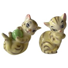 Vintage Salt and Pepper Shakers Playful Cats