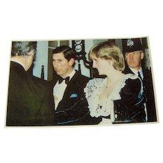 Vintage Postcard Charles and Diana - Red Tag Sale Item