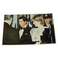 Vintage Postcard Charles and Diana