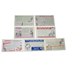 Vintage J. R. Watkins Salesman Postcards - lot of 7