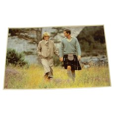 Vintage Postcard Charles and Diana