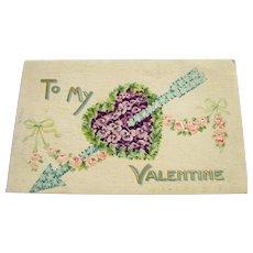 Vintage Postcard To My Valentine