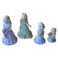 Vintage 1981 Enesco Growing Up Birthday Girls