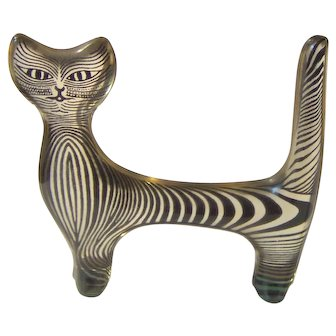 Vintage Abraham Palatnik Cat Sculpture
