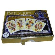 Vintage Baroque Piatnik Playing Cards
