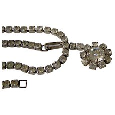 Vintage Coro Necklace with Clear Rhinestones