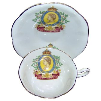 Vintage Queen Elizabeth II 1953 Coronation Cup and Saucer