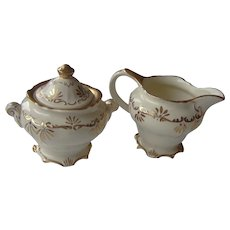 Vintage Sadler Cream and Sugar Set