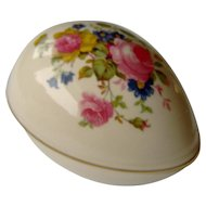 Vintage Sadler Egg Shaped Trinket Holder