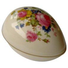 Vintage Sadler Egg Shaped Trinket Holder
