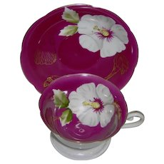 Vintage Floral Cup and Saucer by Princess China Occupied Japan