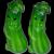 Anthropomorphic Cucumber Salt and Pepper Shakers