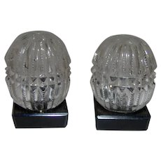 Lovely Bohemian glass crystal salt and pepper shaker set