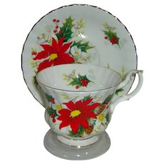 Cup and Saucer by Royal Albert pattern Yuletide