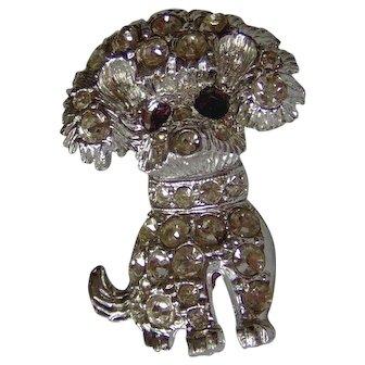 Vintage Dog Brooch