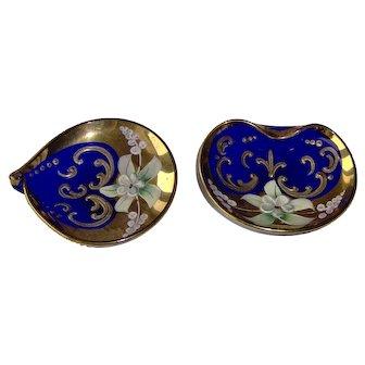 Vintage Cobalt Blue Glass Dishes