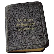 Miniature Prayer Book Ste Anne de Beaupre Souvenir