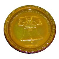 Carnival Glass Liberty Bell Display Plate