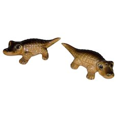 Alligator Salt and Pepper Shakers