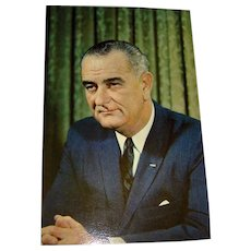 Postcard of President Lyndon Baines Johnson