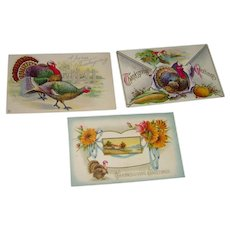 Postcards with Thanksgiving Greetings